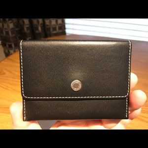 Coach Black Smooth Leather Card Holder